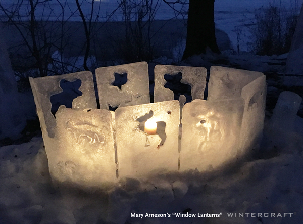 Mary Arneson ice windows in 2019 Enchanted Forest