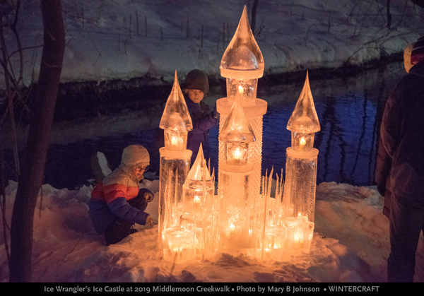 Ice Wrangler's Ice Castle for 2019 Middlemoon Creekwalk photo by Mary B Johnson