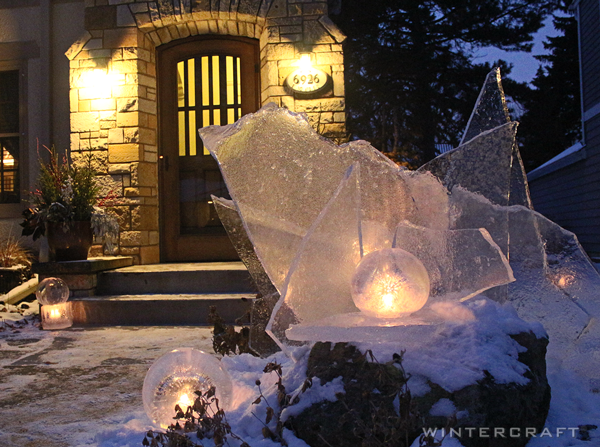 Wintercraft Gift of Ice Lantern Installation Ice Wrangler