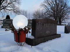 #Wintercraft Memorial display using Wintercaft Ice lantern