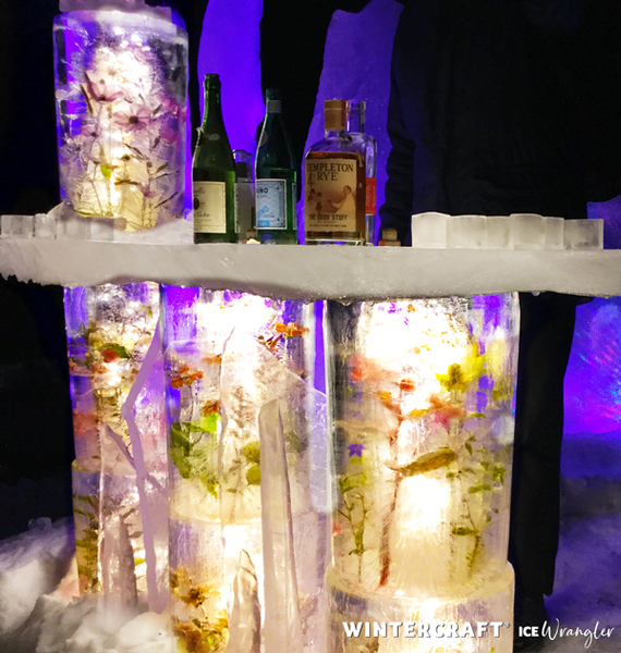 Close up of the Floral Ice Bar in use Wintercraft Ice Wrangler