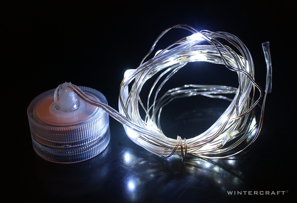 Micro Lights on Wire Wintercraft Batter-operated and Waterproof