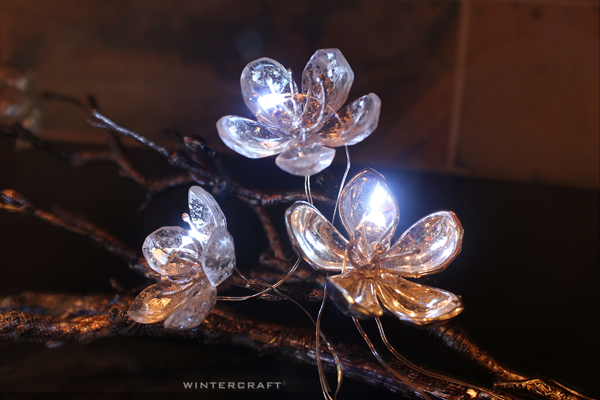 Micro Lights on Wire on Fake Flower Wintercraft Tip Imagine inside a Globe Ice Lantern!