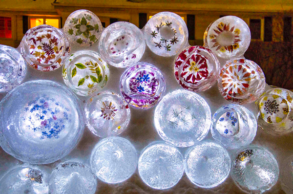 Floral Ice Disc Wall for #Sharingtheglow at Wintercraft The Ice Wrangler