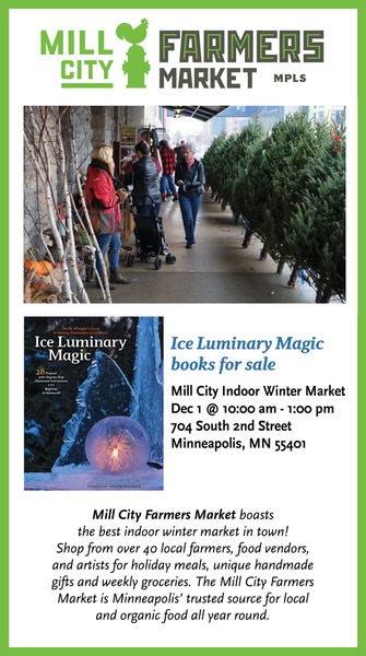 Ice Luminary Magic books for sale at Mill City Indoor Winter Market Dec 1 • 10am-1pm