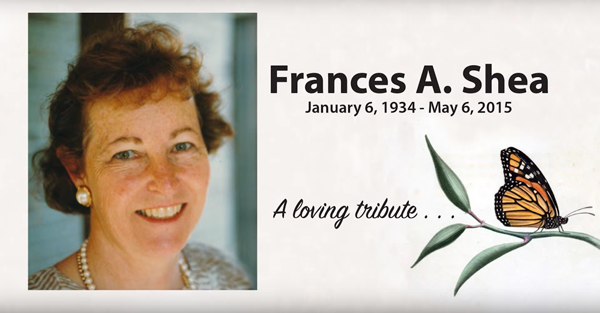 Video honoring Jen's Mom - Frances Ann Seals Shea