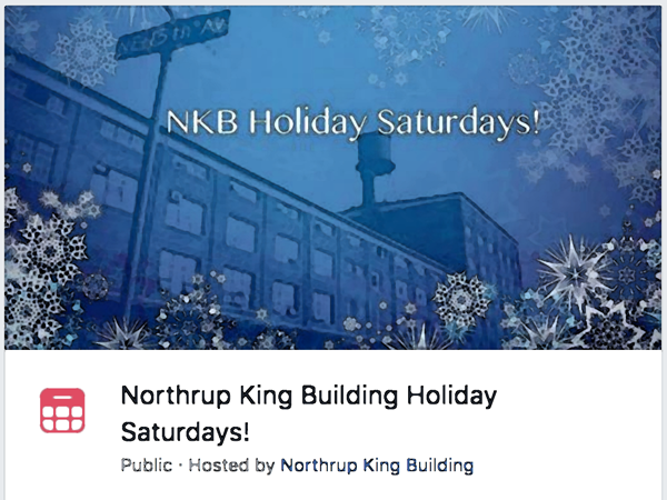 Northrup King Building Winter Saturdays Event