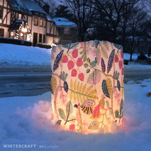 #Sharingtheglow with an ice lantern for your neighbors!