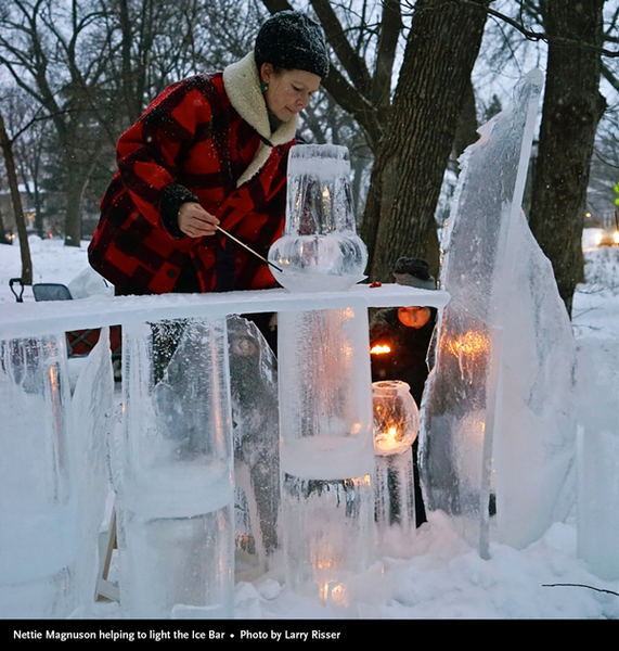 Nettie Magnuson lighting Ice Bar Middlemoon Creekwalk 2016