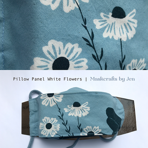 Pillow Panel White Flowers