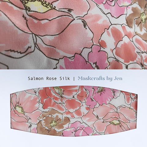 Salmon Rose Silk