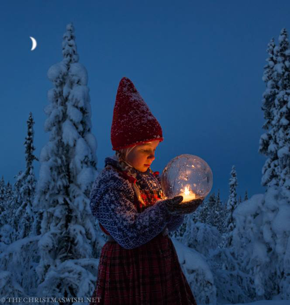 The Christmas Wish Book starring Globe Ice Lanterns