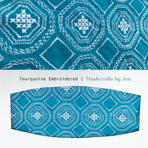 Turquoise Embroidered