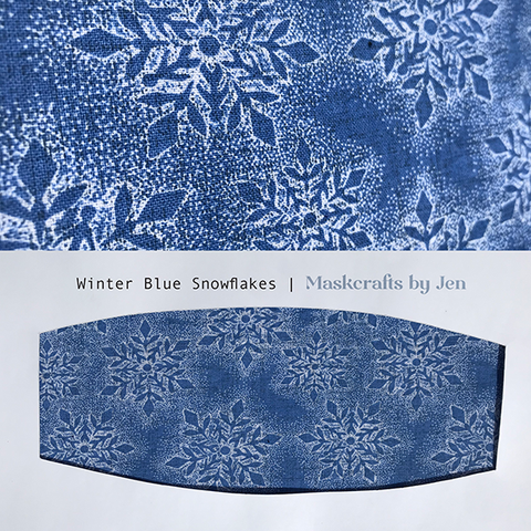 Winter Blue Snowflakes