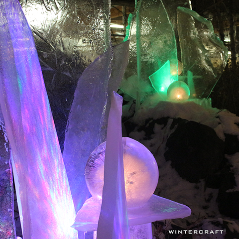 REI ice luminaries for event