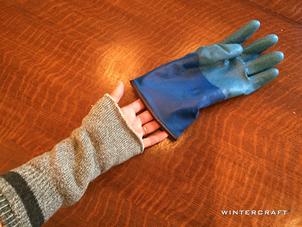 Wintercraft Cut Off for Warmth Blog Smurfy Blues with Wrist Warmers