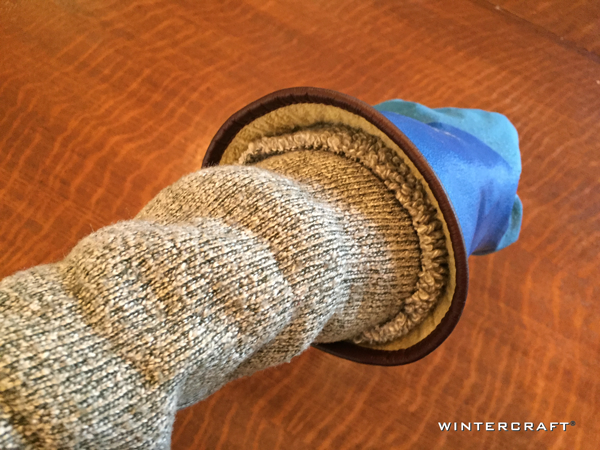 Wintercraft Cut Off for Warmth Blog Rolled Up Sock to Seal in Warmth