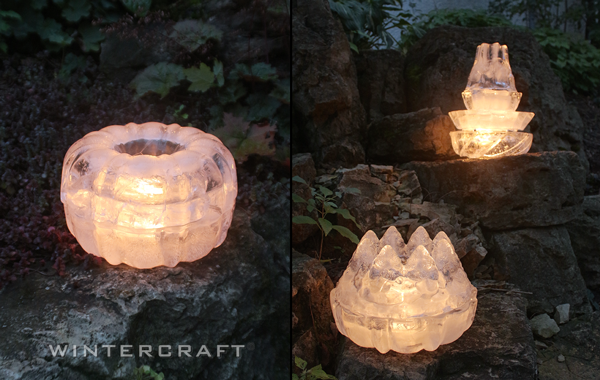 Wintercraft Bundt Pan Stacked Ice Luminaries photo from Ice Luminary Magic! by Jennifer Shea Hedberg