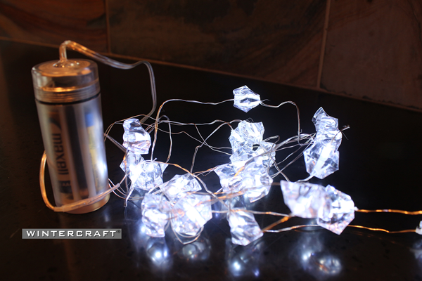 Wintercraft Crystal LED lights battery-powered