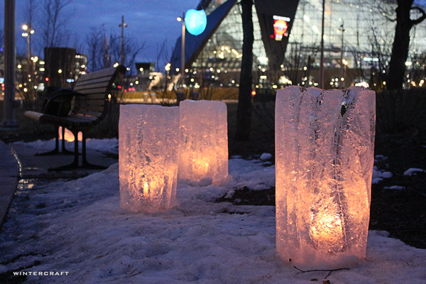 Wintercraft Ice Wrangler The Commons Three Candlelit Finnish Columns