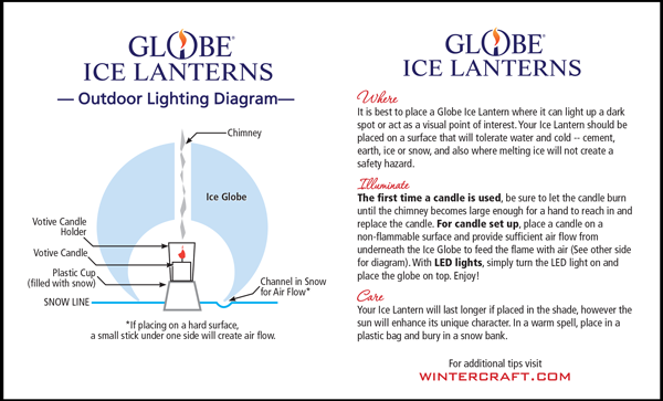 Wintercraft Globe Ice Lantern Lighting Guide