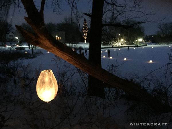 WIntercraft Hanging Egg Ice Lantern by Jennifer Shea Hedberg The Ice Wrangler for Luminary Loppet Enchanted Forest 2016