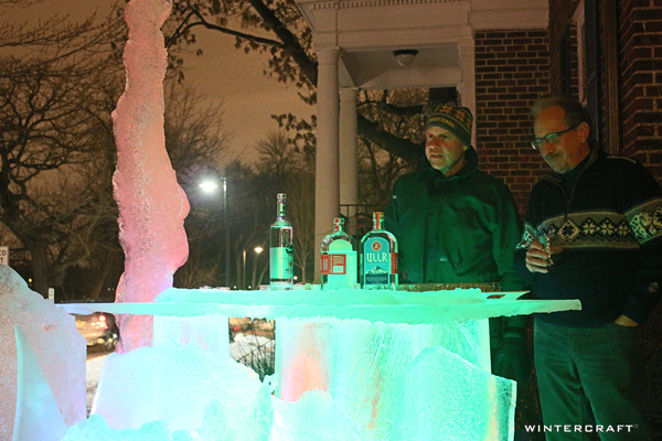 Wintercraft Ice Bar for private party built by Jennifer Shea Hedberg, The Ice Wrangler