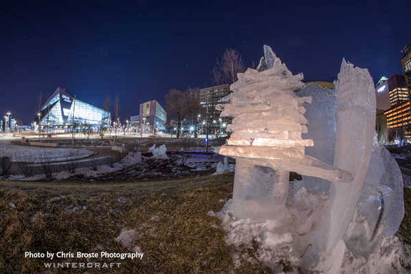 Wintercraft Ice Wrangler Chris Broste Photography No Snow in The Commons Park