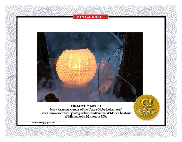 Wintercraft Photo Contest 2016 Creativity Award