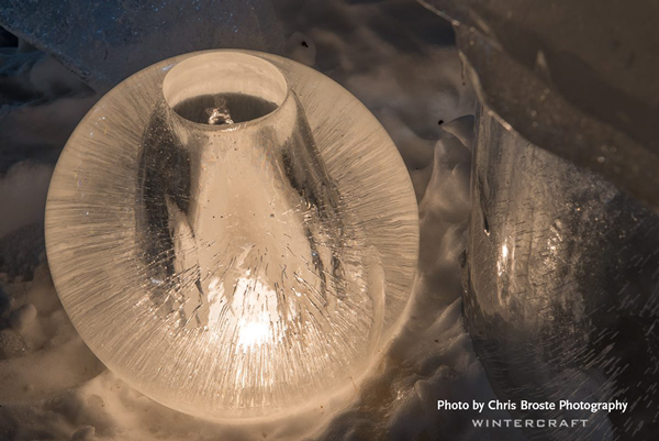 Wintercraft Wide open Globe Ice Lantern by Chris Broste Photography