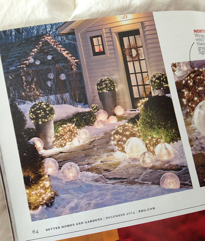 Wintercraft spherical Ice luminaries in Better Homes and Gardens BHG