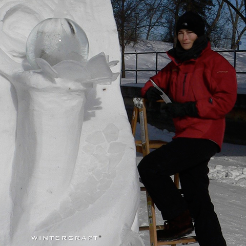 Jennifer Shea Hedberg large snow and ice sculpture wintercraft