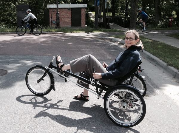 Recumbent tricycle for the balance impaired