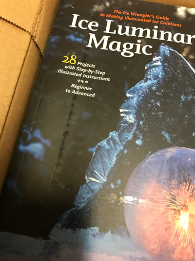 "Ice Luminary Magic book - ""2nds"" damaged cover"