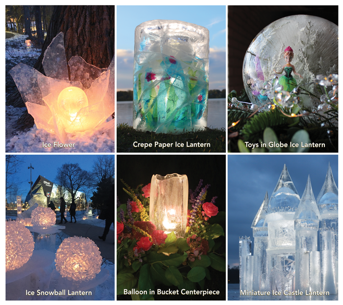 Ice Luminary Magic - 224 page full color DIY book - Wintercraft - Minneapolis, MN