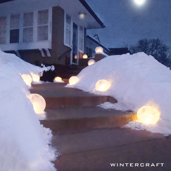 Wintercraft ice lanterns for outside home decor and holiday decorating