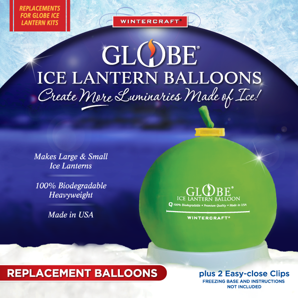 Wintercraft Replacement balloons 6 pack for ice lanterns