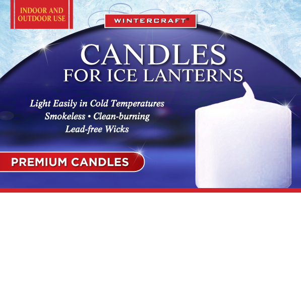 Candles for Ice Lanterns