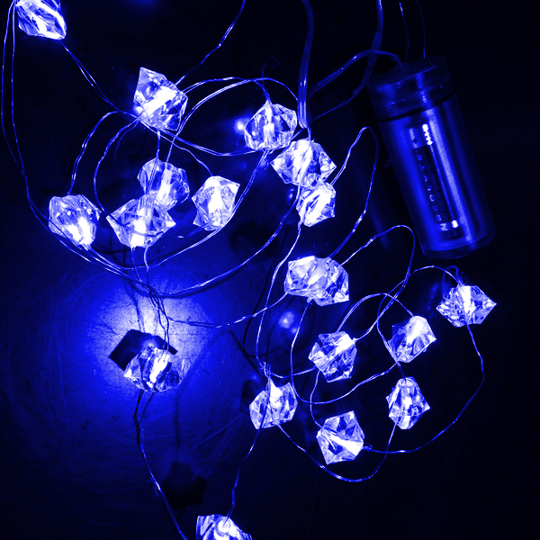 Waterproof LED Acrylic Crystal Lights on Wire - Wintercraft - Minneapolis, MN