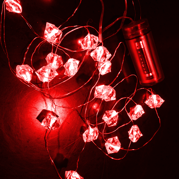 Waterproof LED Acrylic Crystal Lights on Wire