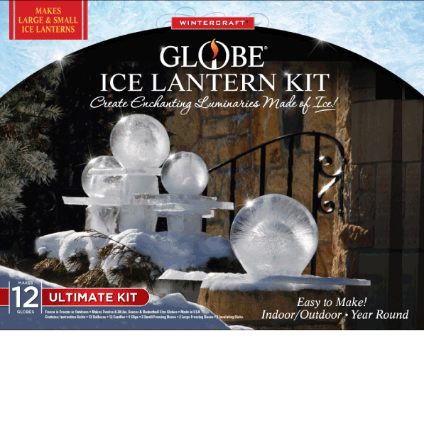 Wintercraft Ultimate kits for the ice lantern enthusiast. Makes 12 small or large globe ice luminaries