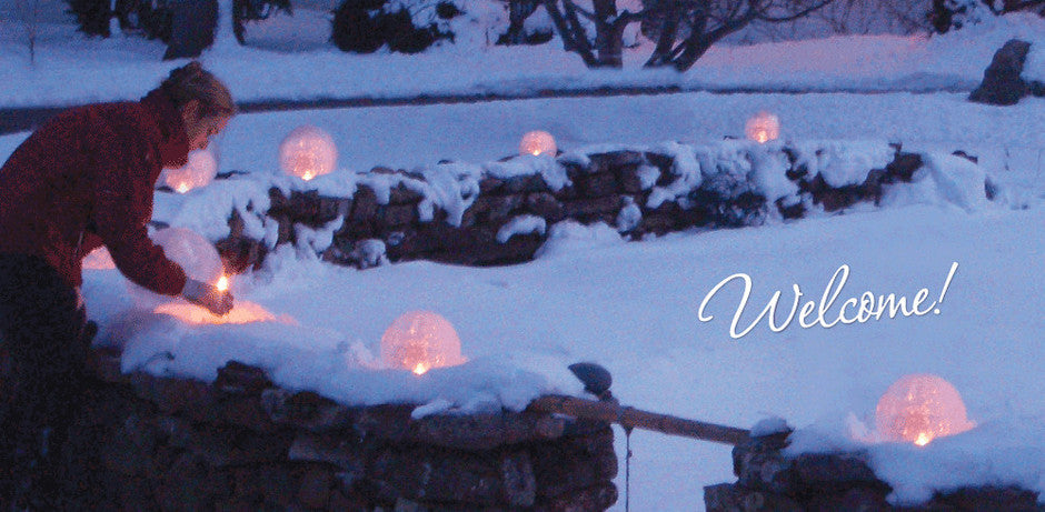 #Wintercraft #IceLanterns Welcome DIY Globe Ice Lantern Kits