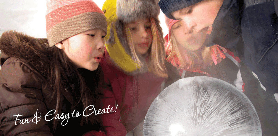 #Wintercraft Fun and Easy DIY Globe Ice Lantern Kits