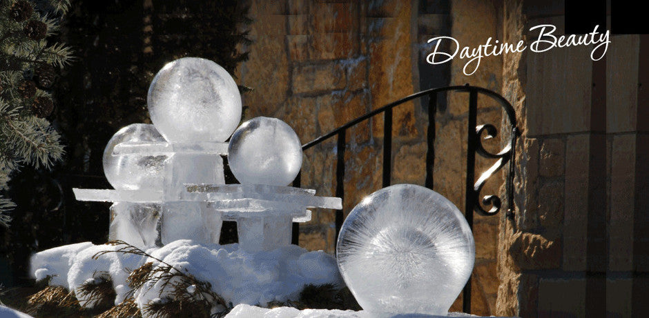 #Wintercraft Daytime beauty Spherical Ice Lantern Kits