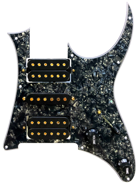 Terminator - JEM/RG Pickguard Assembly with Terminator 5/3 System & DiMarzio Evolution Pickup Set