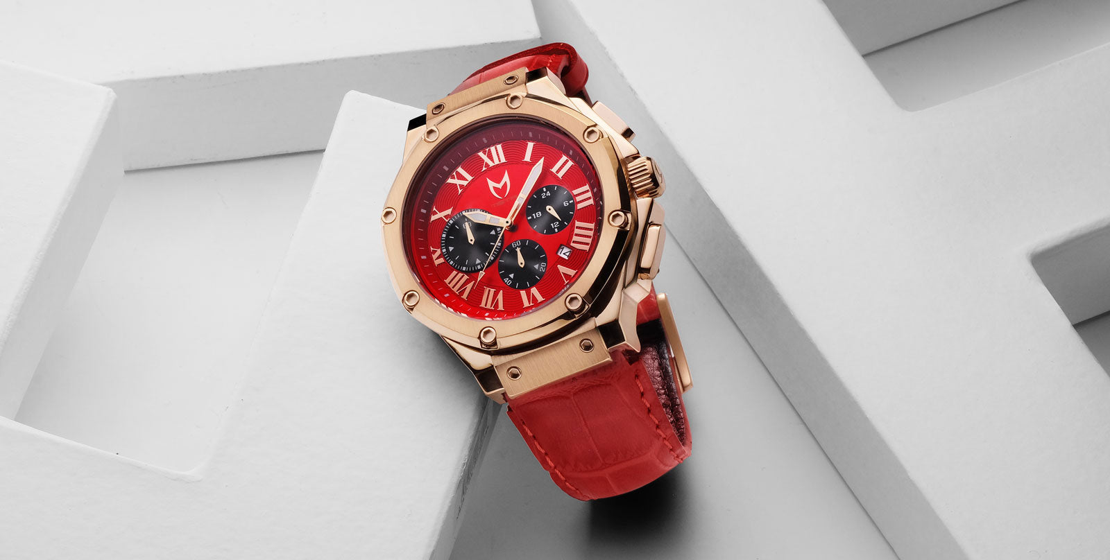 34d5319417 ... and red croc band. This watch stands out like no other watch, because  of the color combination and semi-polished case and bezel. This ambassador  is very ...