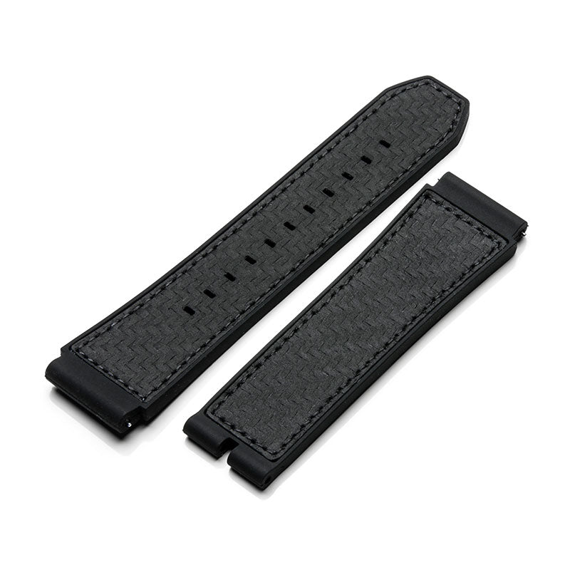 SB202CR - CARBON FIBER RUBBER BAND / BLACK STITCH