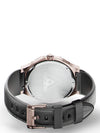 AU116CB- ULTRA ROSE GOLD / BLACK / LEATHER BAND