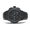 AM149LB - AMBASSADOR BLACK / BLACK / LEATHER BAND