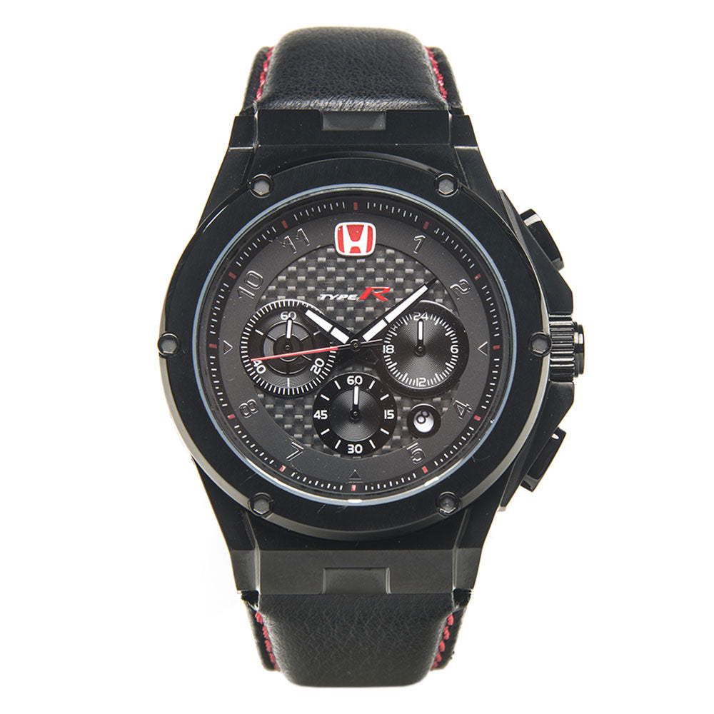 AM236TR - MK3 BLACK / BLACK CF / LEATHER BAND (Honda Type R)